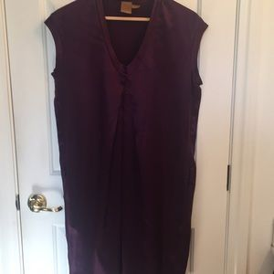 Plum silk dress